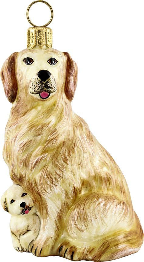 golden retriever puppy ornament golden retriever w puppy ornament