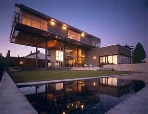 cantilever home exquisite reflecting pools for a fluid and tranquil home