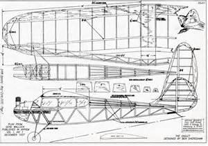 free rc plans 1937 eaglet old timer vintage free flight rc airplane