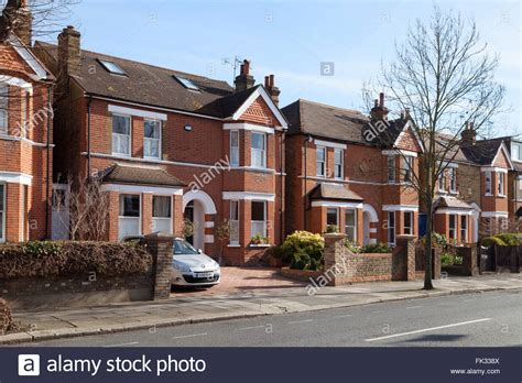 houses to buy in west london detached houses on a street in ealing west london uk stock photo royalty free image