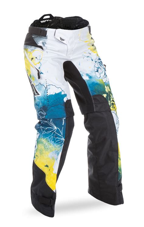 fly womens motocross gear kinetic women s over boot teal yellow pant fly racing