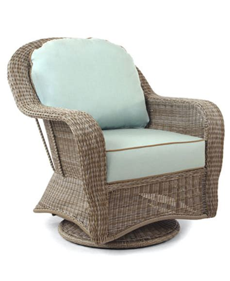 Sandy Cove Wicker Outdoor Swivel Glider Furniture Macy S Outdoor Wicker Swivel Chair
