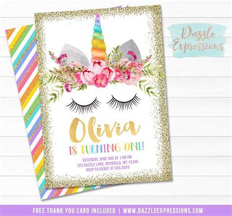 free printable unicorn stationery printable rainbow and gold glitter unicorn face birthday
