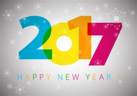 graphic design for new year 2017 new year template design with colorful numbers
