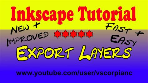 inkscape tutorial youtube deutsch inkscape tutorial how to export all layers together to