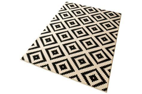 teppich beige schwarz ethno design teppich dekor 160x230 cm mit rautenmuster