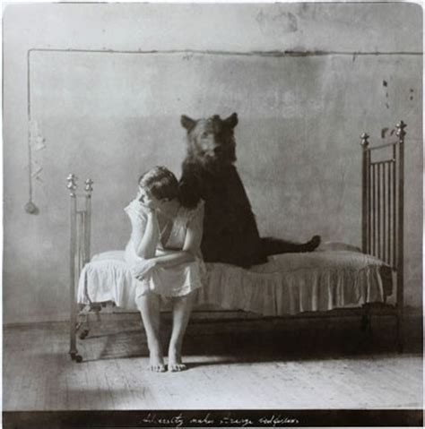 animal in bed animal bear bed girl photography relationship image