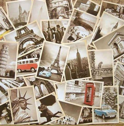 kaarten set travel postpapier enzo