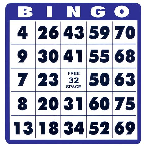 printable card bingo image gallery large print bingo cards