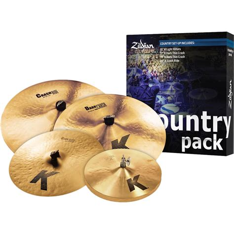 Cymbal Zildjian K Country Set K0801c 5cymbal zildjian k 4 country cymbal box set hi hats 2 crashes crash ride k0801c
