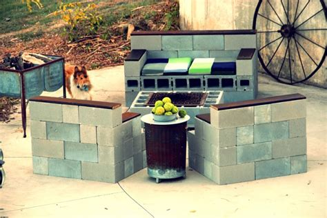 Cinder Block Outdoor Furniture by Concrete Blocks Upcycled Modern Furniture Recycled Things