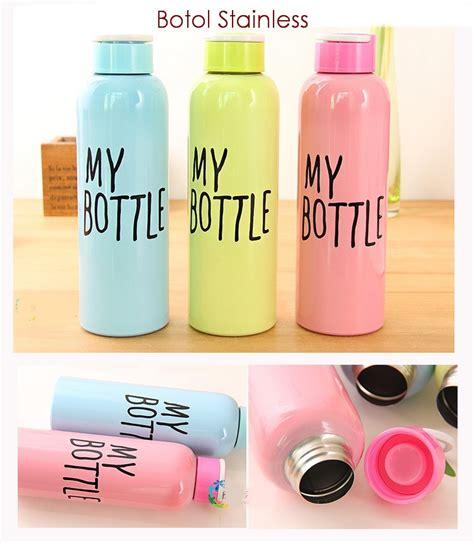 1 Ikea Botol Minum Bisa Dilipat Warna Hijau Tosca jual botol stainless 650 ml model trendy bahan stainless ceria smart