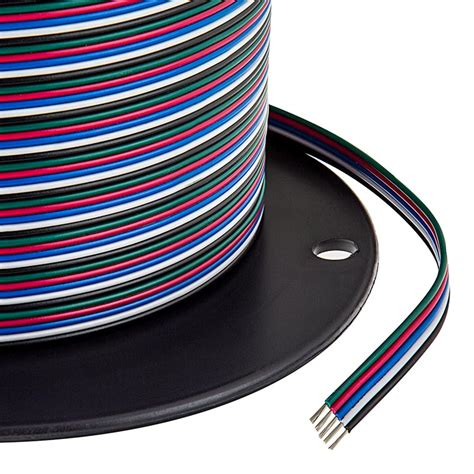 22 wire five conductor rgb w power wire power
