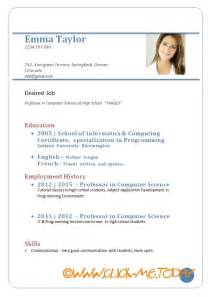 template of cv doc europass cv exle