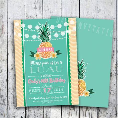 avery template 5160 vs 8160 100 birthday invitation tropical hawaiian