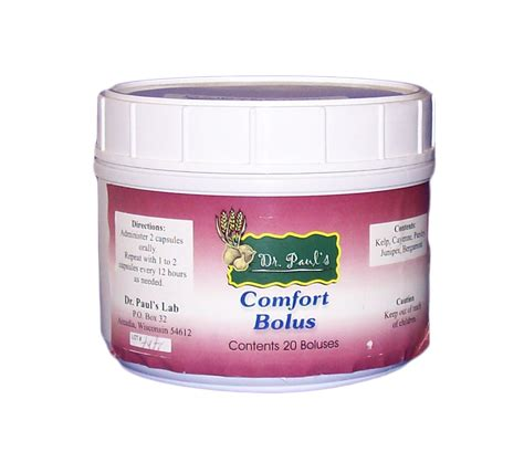 Dr Pauls Detox Bolus by Comfort Bolus Dairy Supplies Solutions