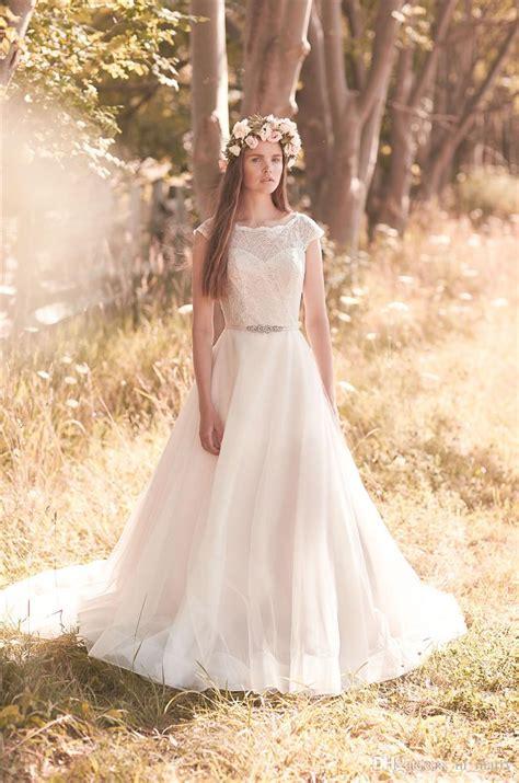 2016 Mikaella Plus Size Modest Boho Wedding Dresses 2068 A
