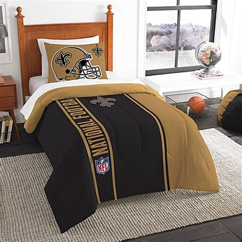new orleans saints comforter set buy nfl new orleans saints twin embroidered comforter set