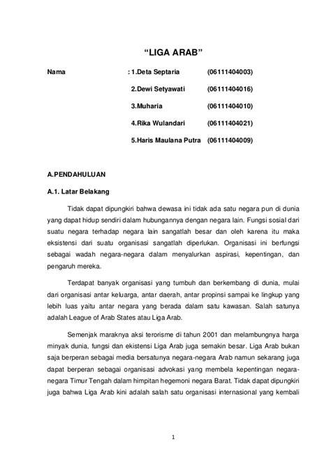 makalah layout perusahaan kelompok 3 liga arab