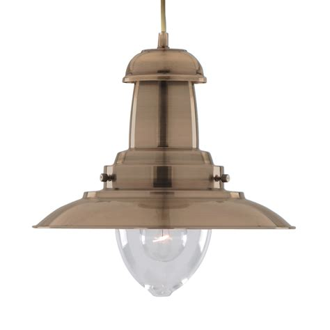 Fisherman Pendant Light Searchlight 4301ab Fisherman 1 Light Antique Brass Pendant
