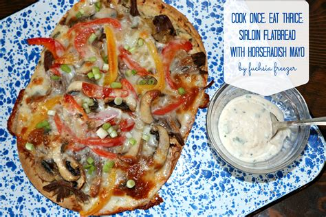 thrice instagram cook once eat thrice sirloin flatbread with horseradish mayo
