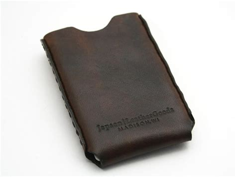 Handmade Business Card Holder - handmade windows leather business card holder gadgetsin