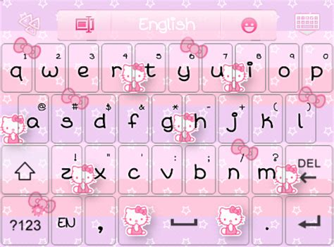 hello kitty themes keyboard hello kitty color bow go keyboard skins android themes
