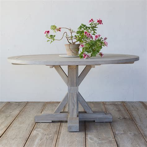 outdoor wood dining tables 10 easy pieces wood outdoor dining tables gardenista