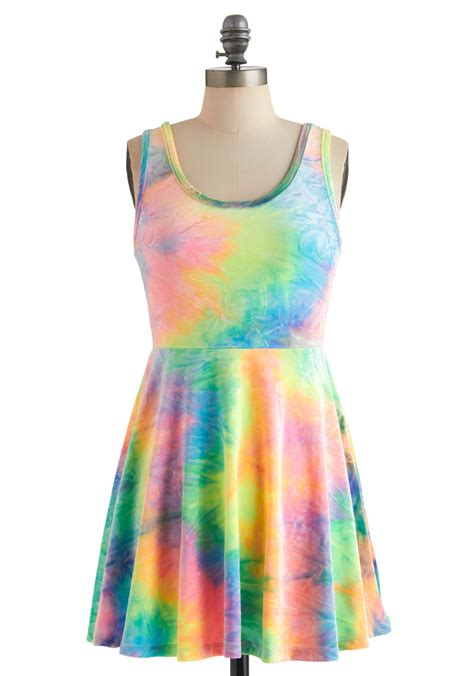 Dress Rainbow 1 rainbow to go dress mod retro vintage dresses modcloth