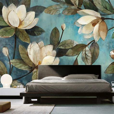 custom mural wallpaper european painting flowers retro livingroom tv backdrop wallpaper entrance