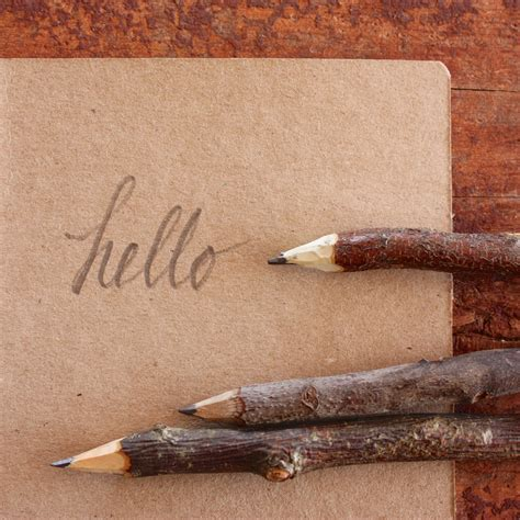 Handmade Pencils - handmade twig pencil rustic wooden pencil made in