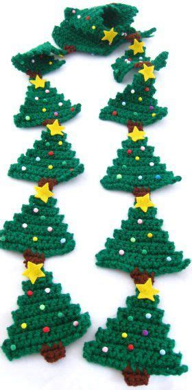 free crochet pattern for christmas tree garland 1000 ideas about crochet christmas trees on pinterest