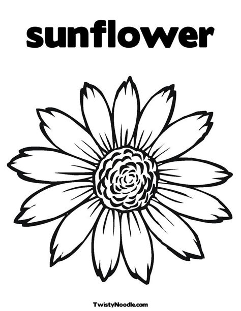 Outline Of Sunflower To Colour by Sunflower Clip 3 Cliparting