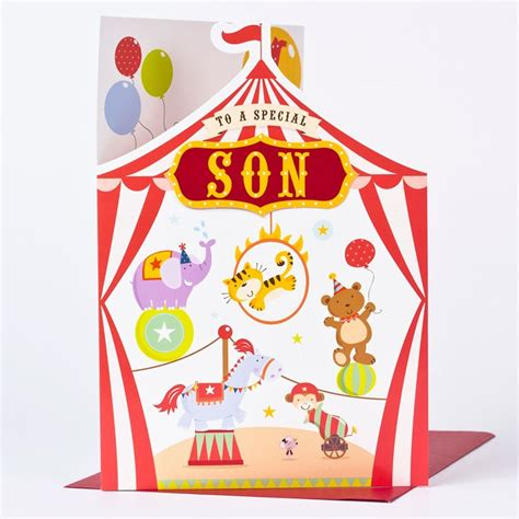 4th Birthday Card 4th Birthday Card Special Son Circus Only 163 1 49