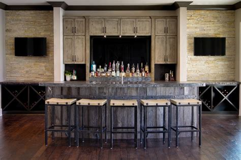 rustic home bar canal place rustic home bar indianapolis by mb