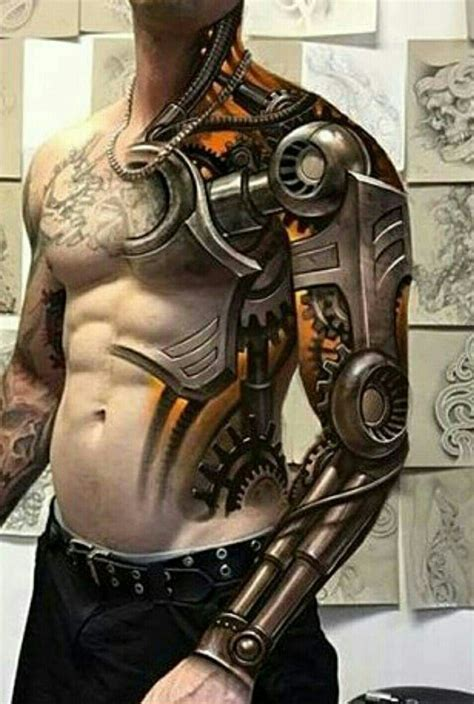 robot sleeve tattoo designs tattoos ssg tatoo and tatting