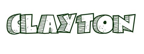 clayton com coloring page first name clayton