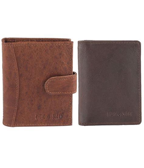 Online Gift Cards For Men - hide sleek diwali gift set of brown wallet and card holder for men buy online at