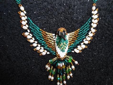 Beaded Eagle Choker snap american choker huichol beadwork eagle choker