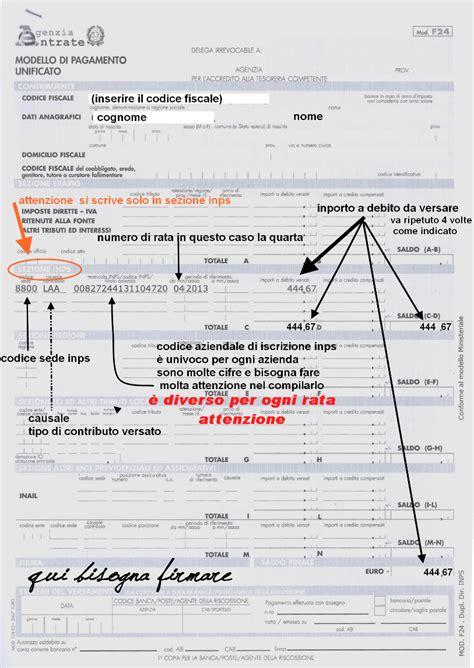 codice sede inps f24 confagricoltura mirano scadenze per il pagamento f24