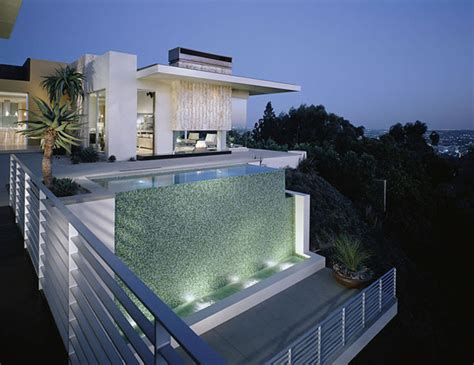 Luxury House Plans With Pools hollywood hills glass tile swimming pool vanishing edge