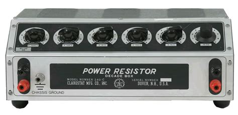 power resistor decade box what is the common application of a power resistor decade box electrical engineering stack