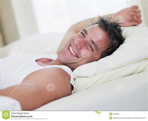 lying in my bed man lying in bed royalty free stock image image 5929966