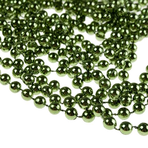 classic green bead chain garland 8mm x 10m party