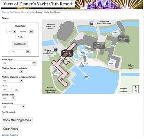 Disney Yacht Club Floor Plan - the view from every disney hotel room yacht and