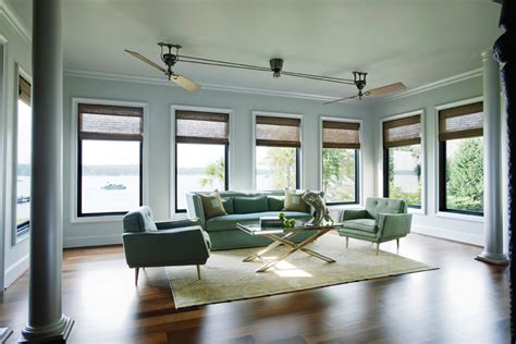 how to cool a room with two fans cool ceiling fans living room tropical with beige curtains