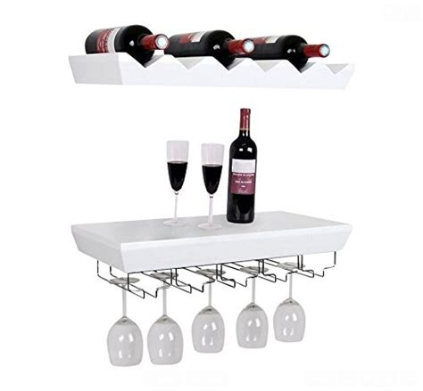 Shelf Of Opened White Wine by Welland White Wine Rack Floating Wall Shelf With Glass