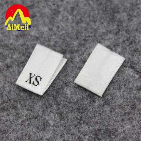 design garment label customized woven size labels number clothing labels