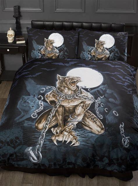 gothic bedding sets single bed loups garou alchemy gothic duvet quilt cover bedding set werewolf full