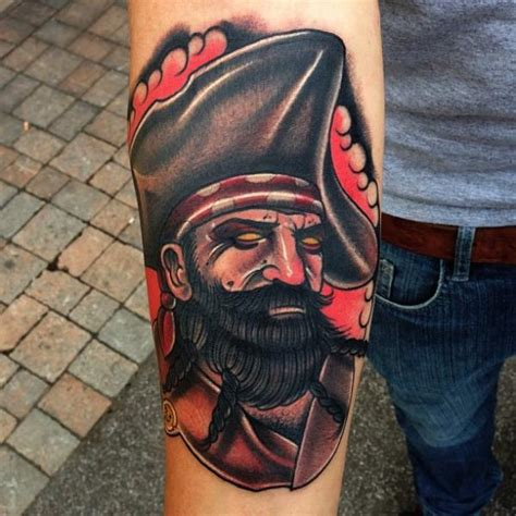 arm old pirate tattoo by mike stocklings